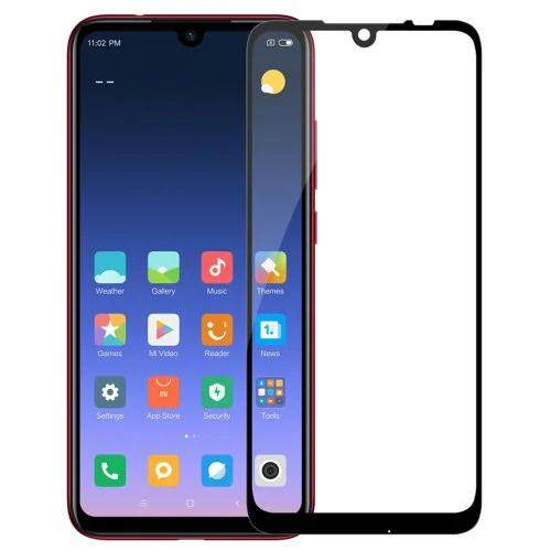 Tempered Glass for Xiaomi Redmi Note 7 - 2.5D Curve Screen Protector [Full Cover Black]