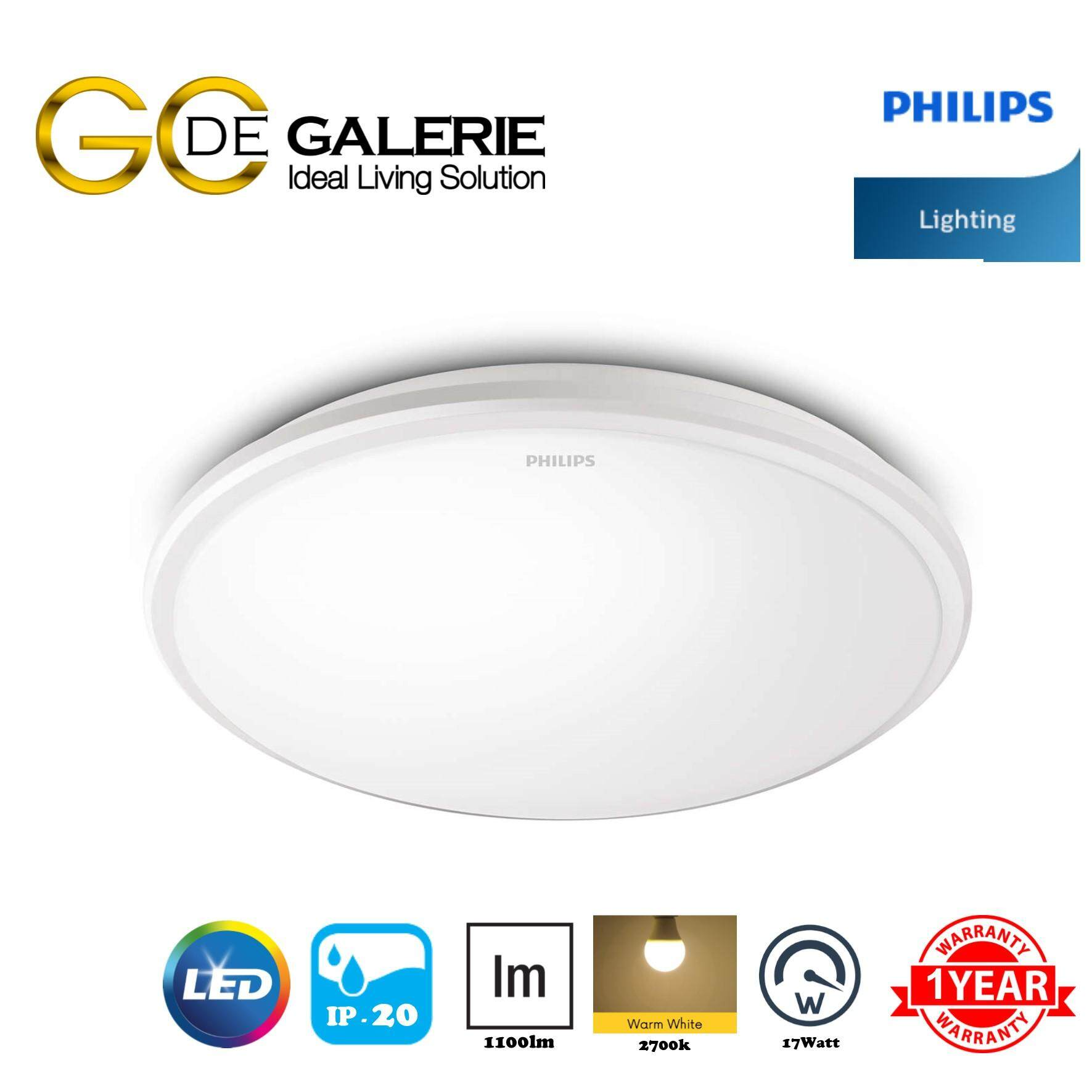 CEILING LIGHT LED PHILIPS 31815 27K WH 17W WHITE LED
