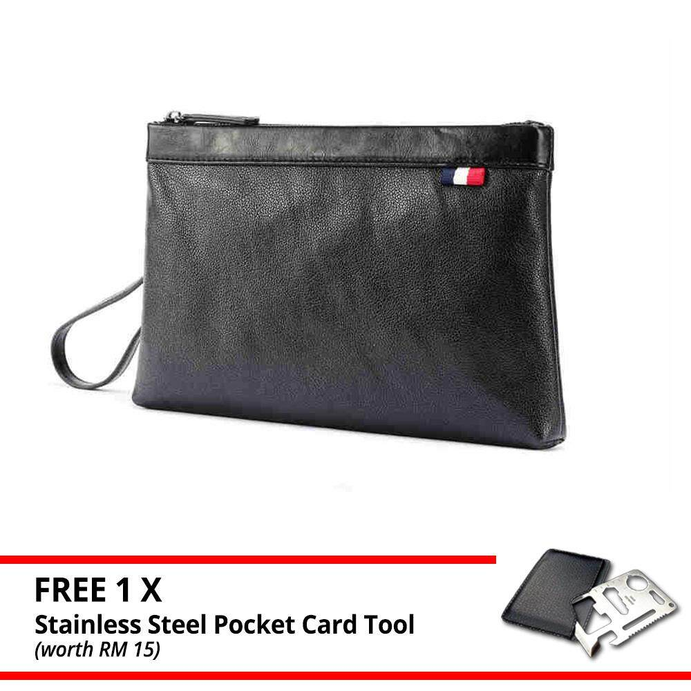 MV Bag Clutch Beg Fashionable Style Leather Handbag Pouch Wallet Men Premium Purse MI4701