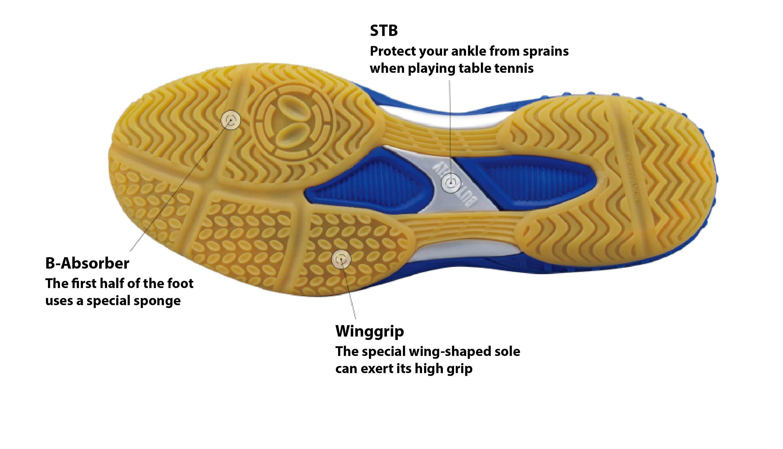 BUTTERFLY Lezoline 5 Table Tennis Ping Pong Sports Shoes Sportswear Lezoline-5