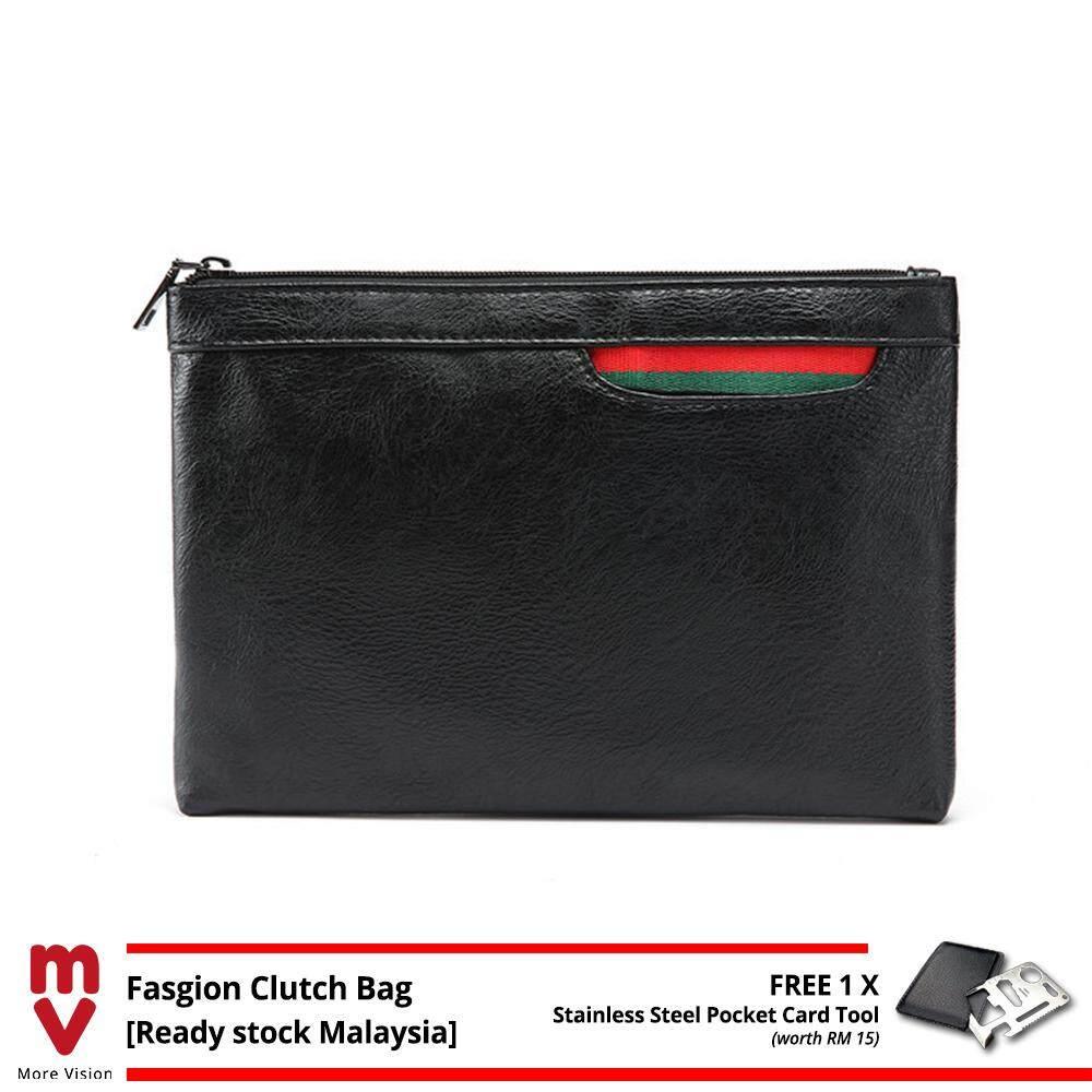 MV Bag Leather Clutch Bag Pouch MEN WOMEN Famous Designer Bags Business Casual Purse Wallet Beg Handbag -MI5351