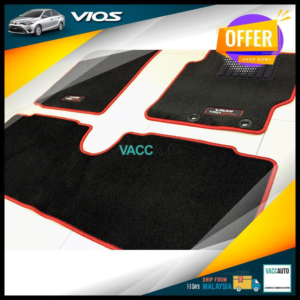 [Original] Toyota Vios 2013 - 2018 TRD Sportivo Floor Carpet - Red Line