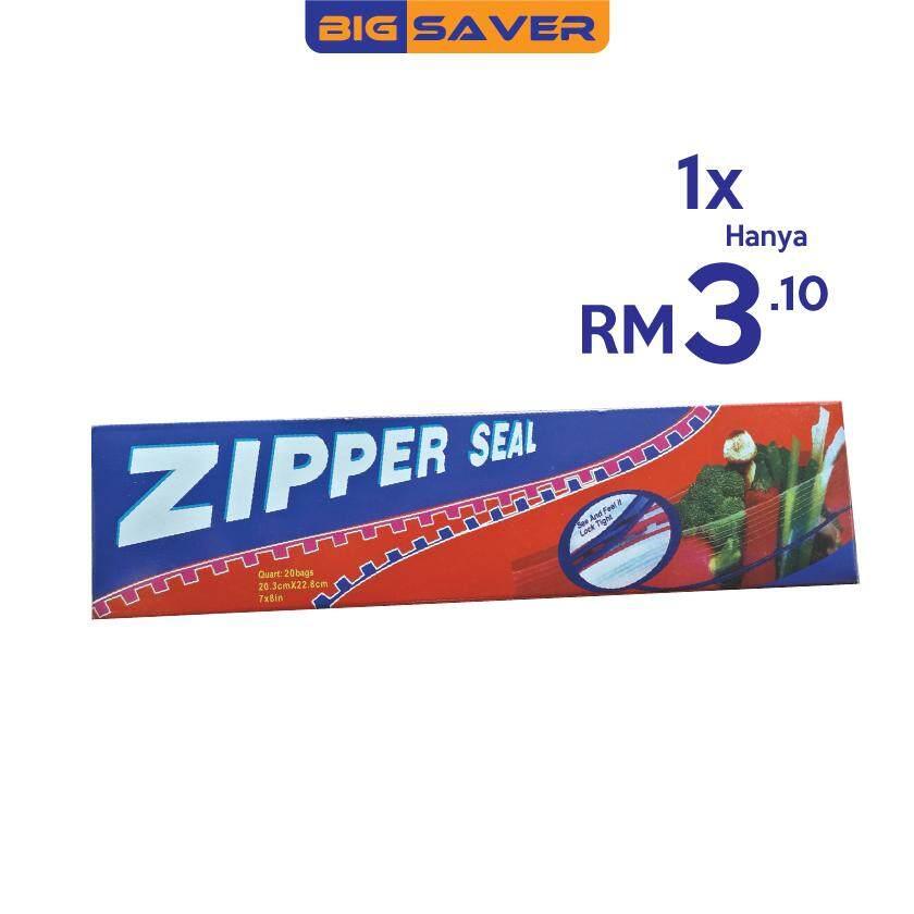 Zipper Seal Food (20 bags) 7 x 8inch