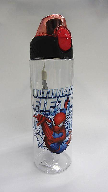 600ML Cartoon Water Bottle Drinking Bottle BPA Free Water Tumbler (BGJAYA)-Spider-Man