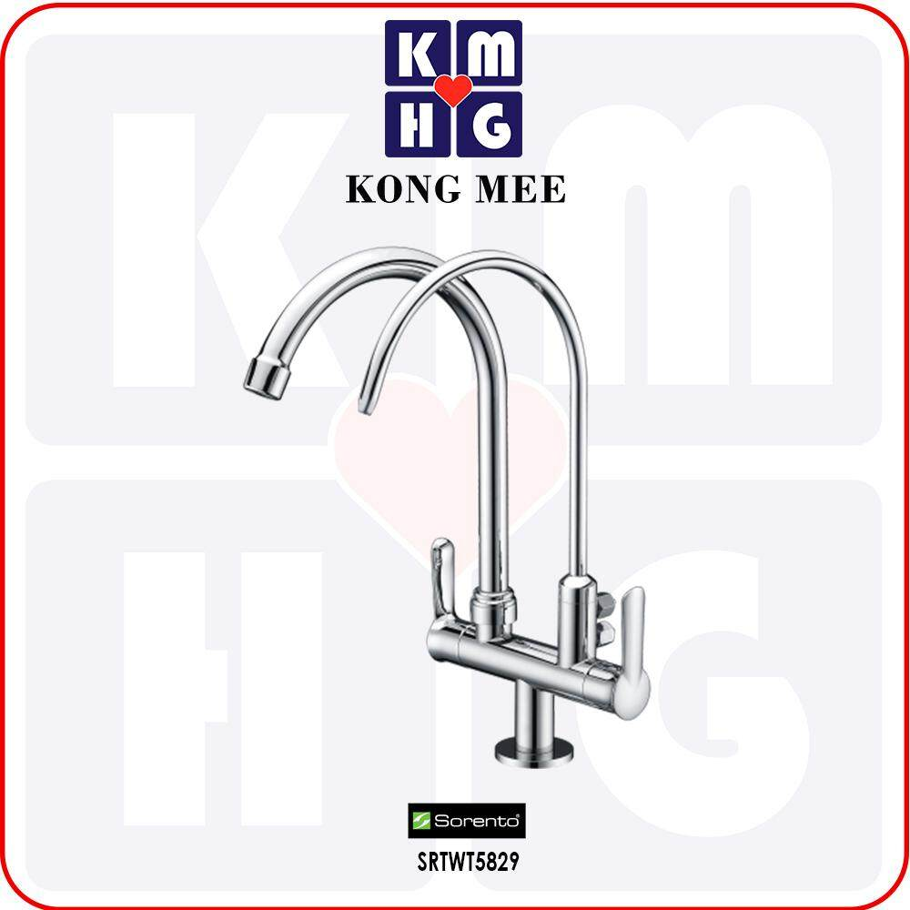 Sorento Italy - Wave 5800 Series Pillar Mounted Sink Tap With Filter Tap (Kitchen Basin Faucet) (SRTWT5829) Drinking Water High Quality Kitchen Top Counter Restaurant Home Wash Dishes Water Soap Faucet Clean Pipe Food Cook Premium Luxury Long Lasting