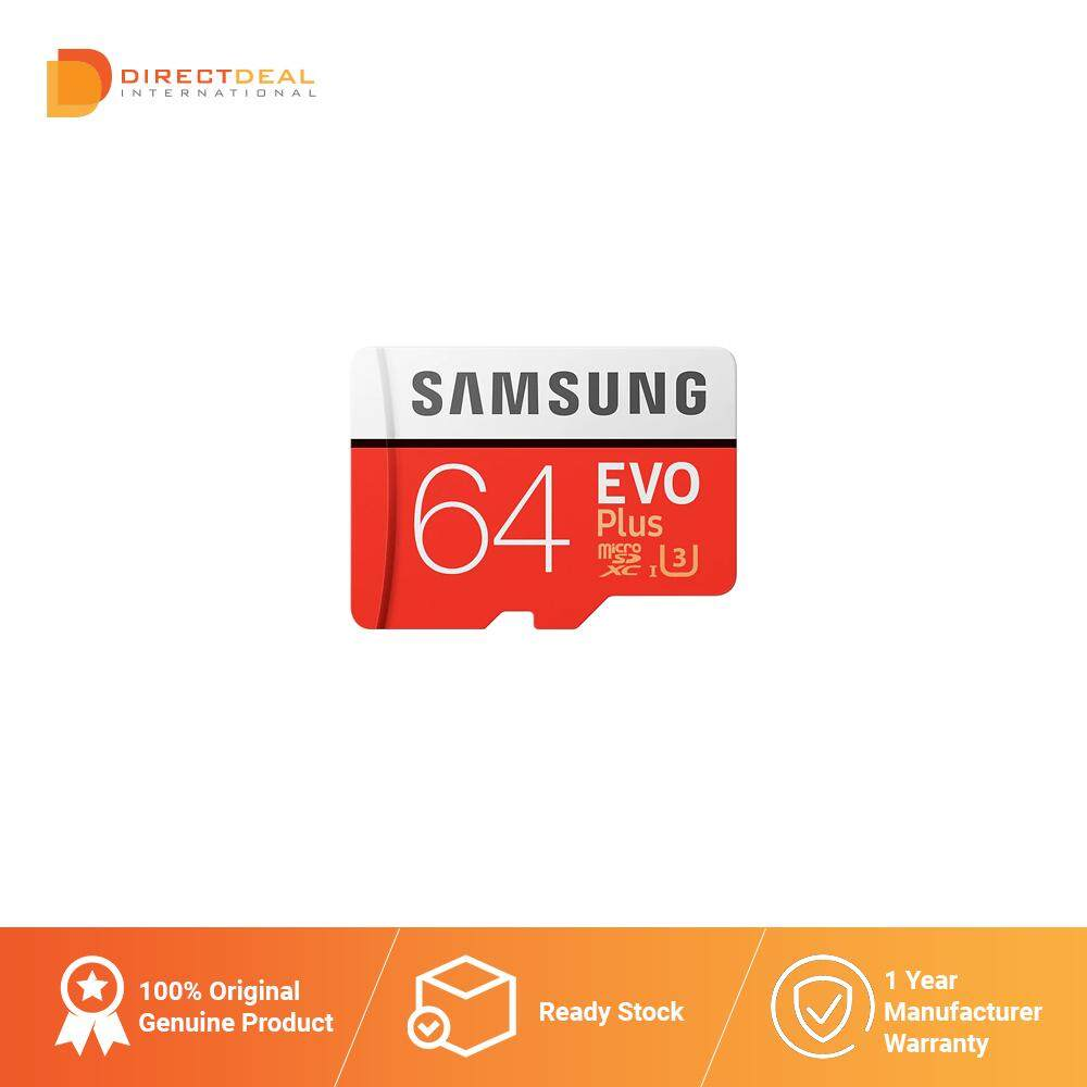 Samsung EVO Plus microSD Card Class 10 64GB - SAMSUNG MALAYSIA OFFICIAL WARRANTY (10 YEARS)