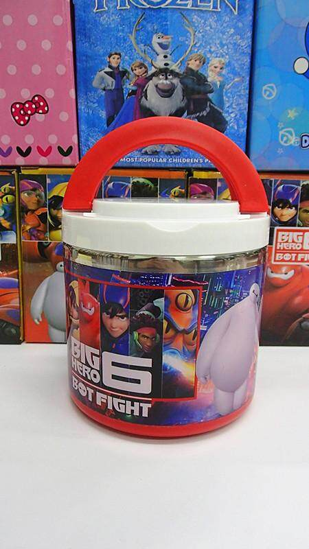 [Ready Stock] 1 Layer Stainless Steel Cartoon Lunch Box (BGJAYA)-BigHero