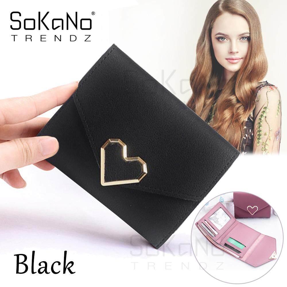 SoKaNo Trendz SKN919 Korean Style Love Mark Heart Shape Short Wallet Woman Wallet Handbeg Wanita