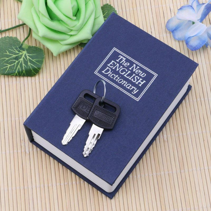 Sách Từ Điển Bảo Mật Mini Hộp Có Khóa Trang Chủ Két An Toàn Khóa Lưu Trữ Tiền Mặt + 2 Phím Món Quà Đặc Biệt Bất Ngờ