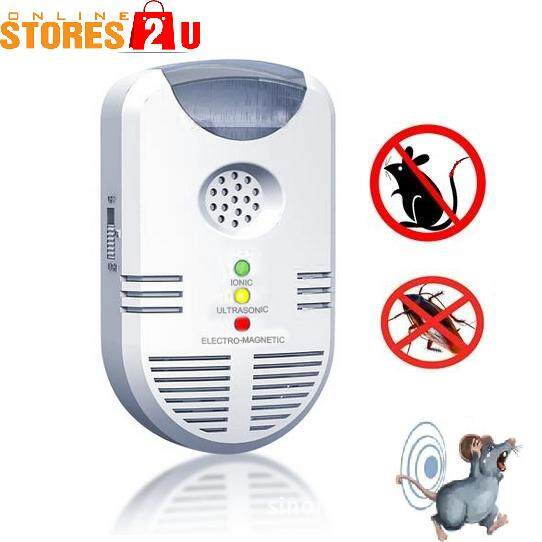 Mega Power Ultrasonic Pest Control 4In1 Ionic Pest Repeller To Repel Rats , Ants, Cockroach, Spiders, Bed Bugs, etc