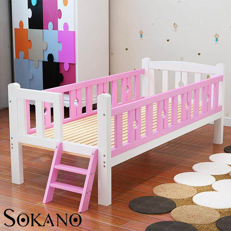 SOKANO HA318 Easel Wooden Baby Bed Baby Cot with Staircase