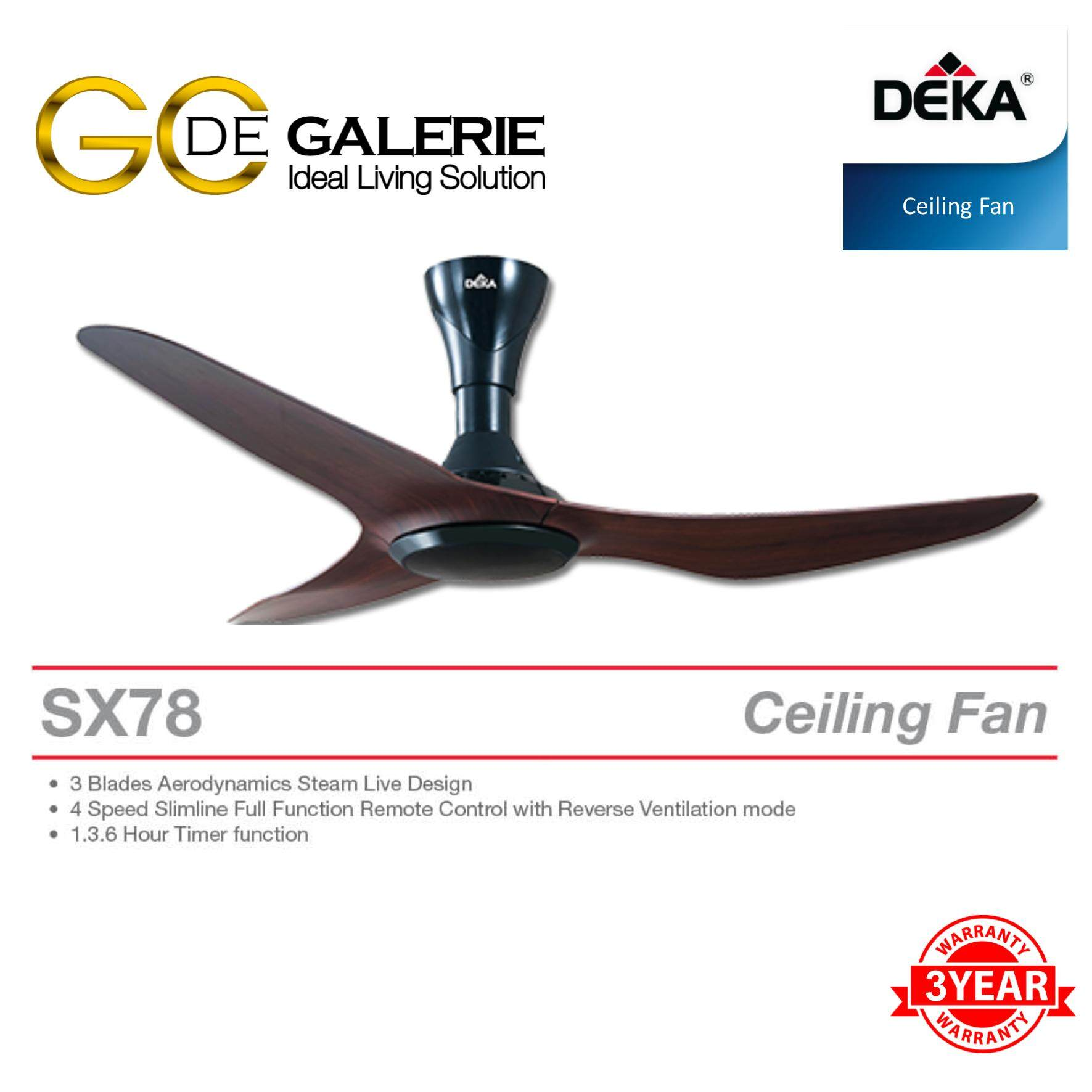 CEILING FAN DEKA SX78-3B-OAK 56""