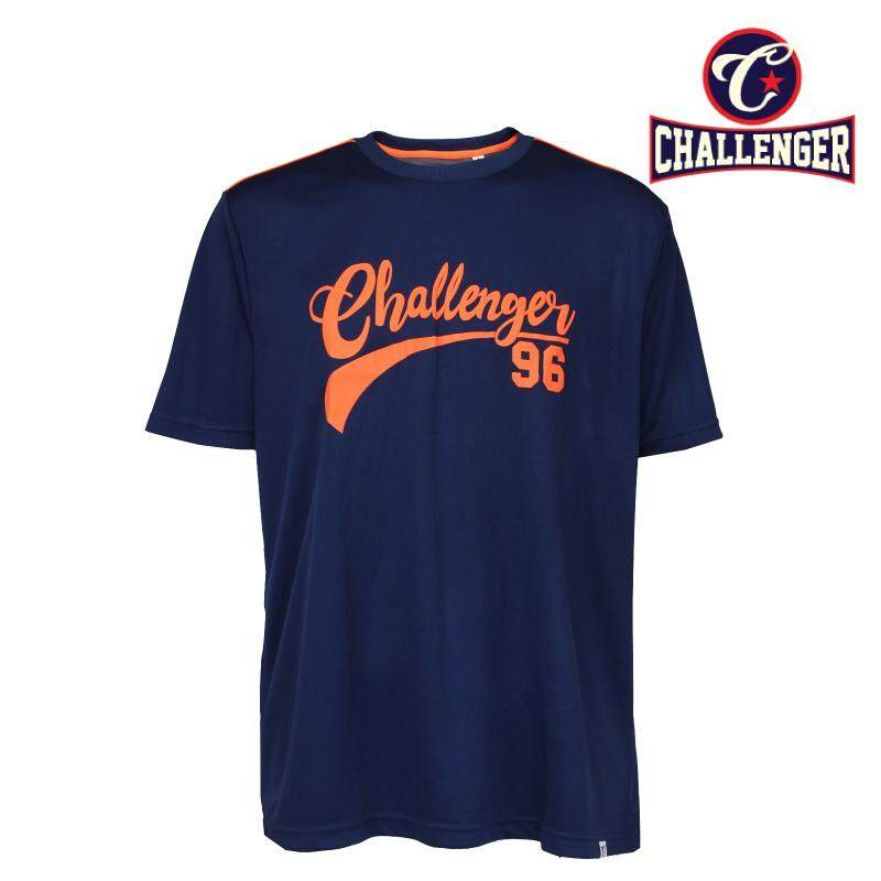 CHALLENGER BIG SIZE Jersey Tee With Printing CH1022 (Navy)
