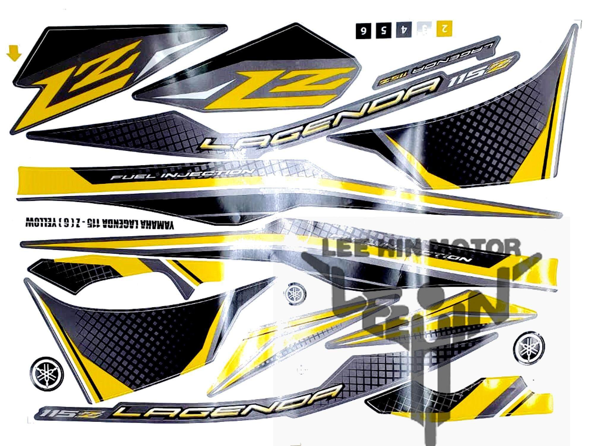 Yamaha Lagenda 115z Body Sticker / Stripe ( Yellow )