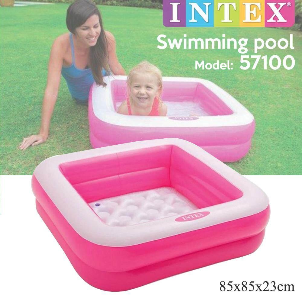 INTEX 57100 2 Rings Swimming Pool Baby Swimming Pool Kids Pool Kolam Renang Kanak-Kanak (85cm x 23cm) Toys for boys