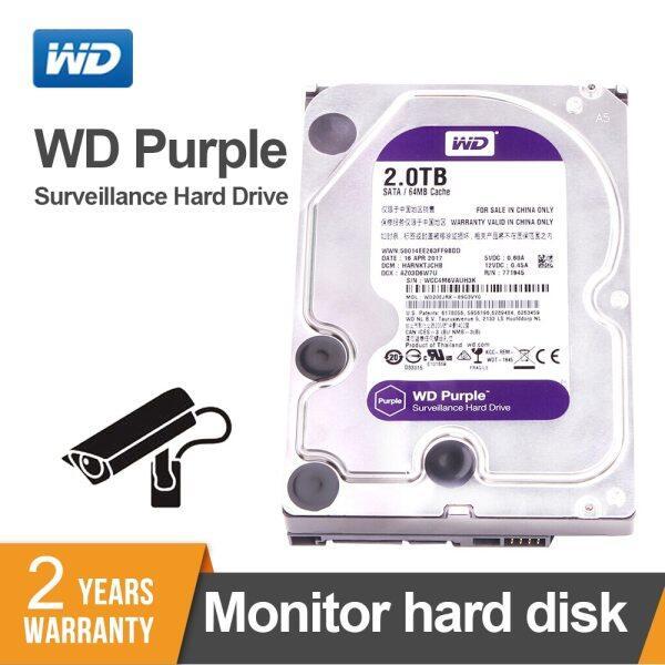 Giá Western Digital 2TB WD Tím 2TB Giám Sát HDD 64 Mb SATA 6 GB/S1 3.5 Ổ Cứng Trong Cho Đầu Ghi Video NVR Wd20ejrx
