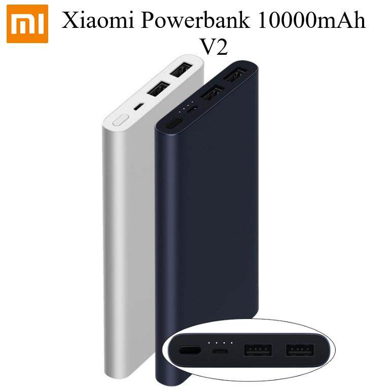 [6 Months Warranty - Genuine] Xiaomi Mi Powerbank 10000mAh 2 2S Dual Port Fast Charging Original Code
