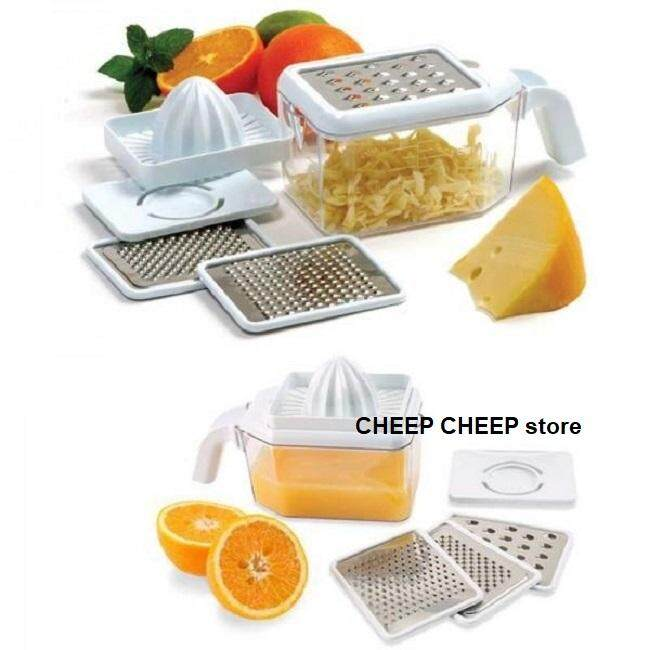 Norpro Multi Grater with Juicer and Egg Separator Attachments – Multi Function Grate Shred Juice Pour Measure and Separate