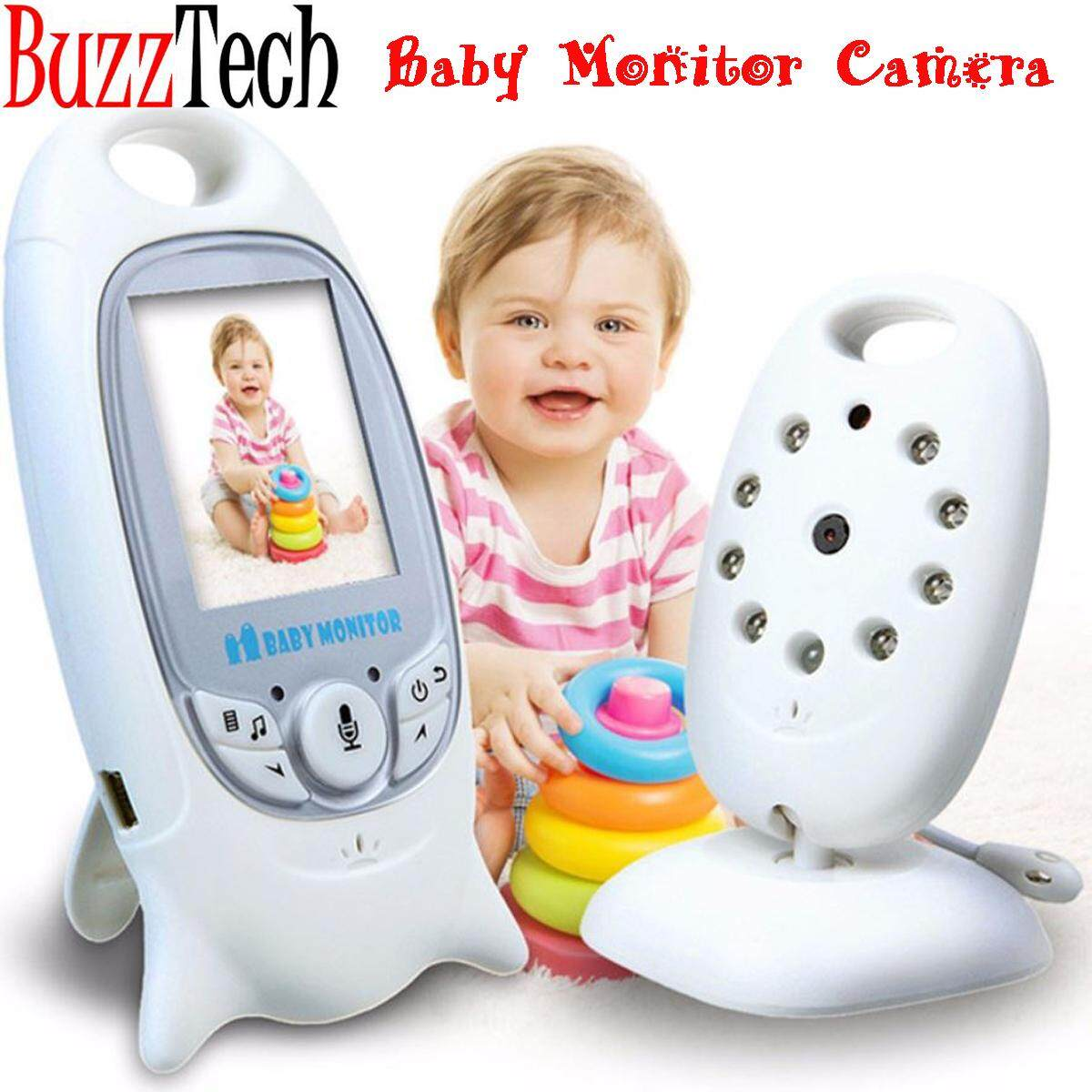 BuzzTech VB601 Wireless Digital LCD Video/Audio Baby Monitor Camera 2.4GHz With Night Vision Electronic Radio Temperature Monitoring