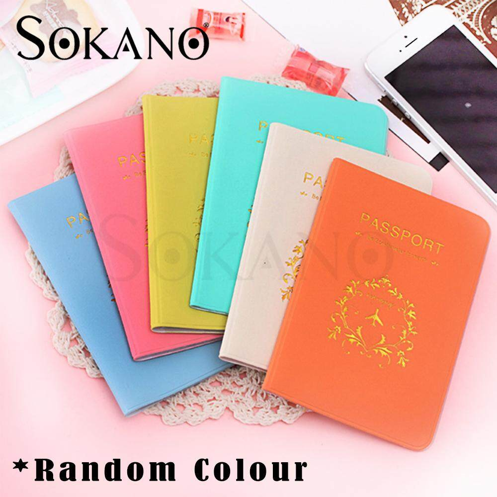 Sokano Passport Holder Organizer Travel Card Case Document Cover ( Random Colors )