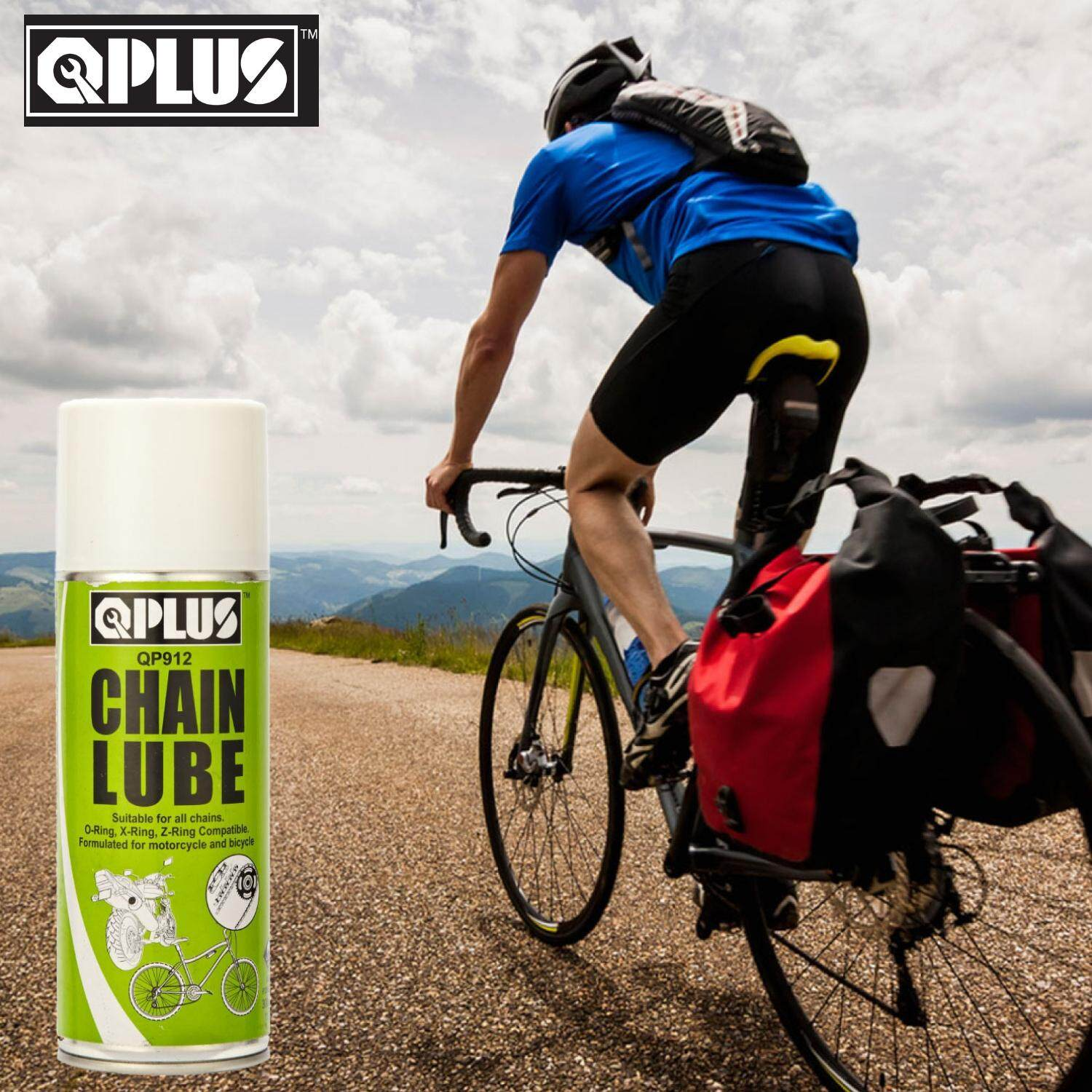 QPLUS QP912 CHAIN LUBE/ DRY LUBE/ OIL LUBRICANT FOR MOTORCYCLE & BICYCLE (300GM)