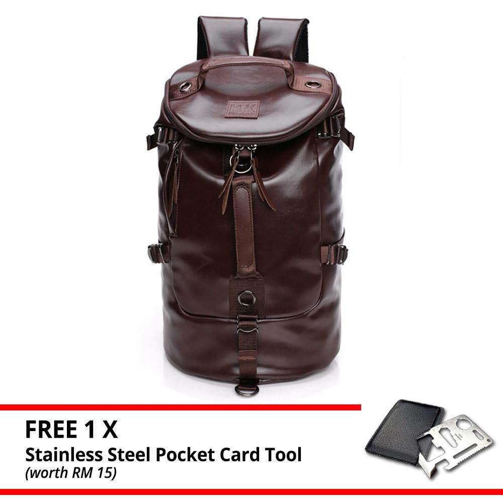 MV Bag Backpack Shoulder Beg Leather Canvas Camping Travel Hiking School Bag Sling Messenger MI3732