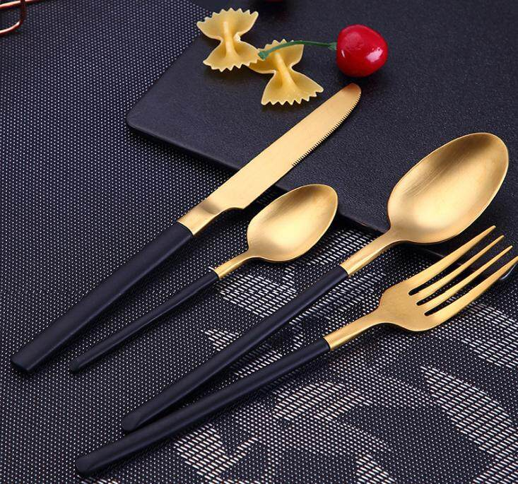304 Stainless Steel Cutlery Set - Rose Gold (4 pieces)