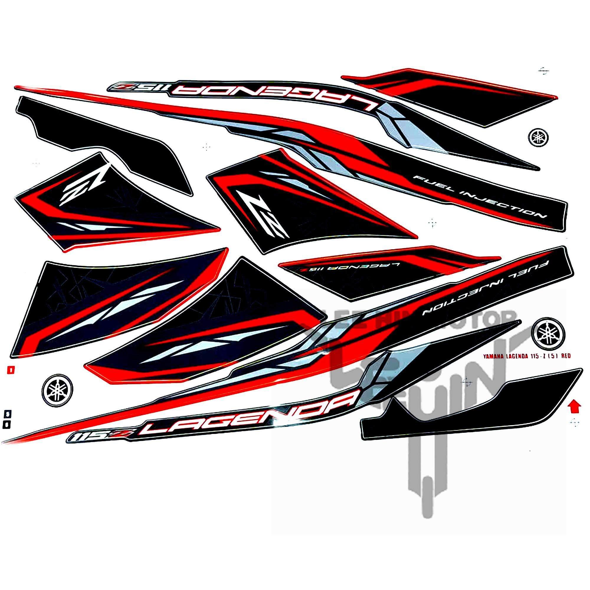 Grade AAA Yamaha Lagenda 115z Body Sticker / Body Stripe, Red