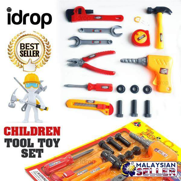 idrop JOINERS TOOL SET - Children Construction Pretend Play Toy -