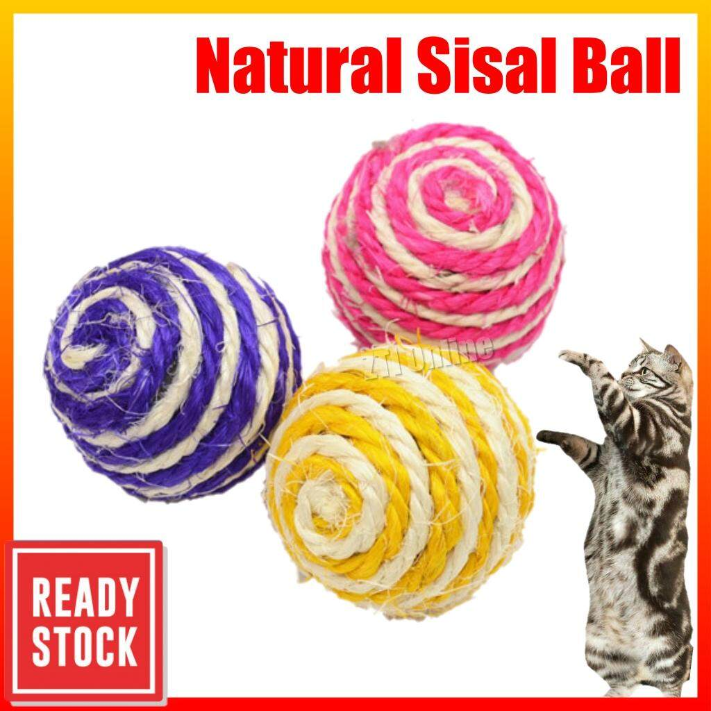 Toy Ball for Cat Sisal rope Ball / Cat Toy / Cat Toys / Toy for cat / Mainan Kucing
