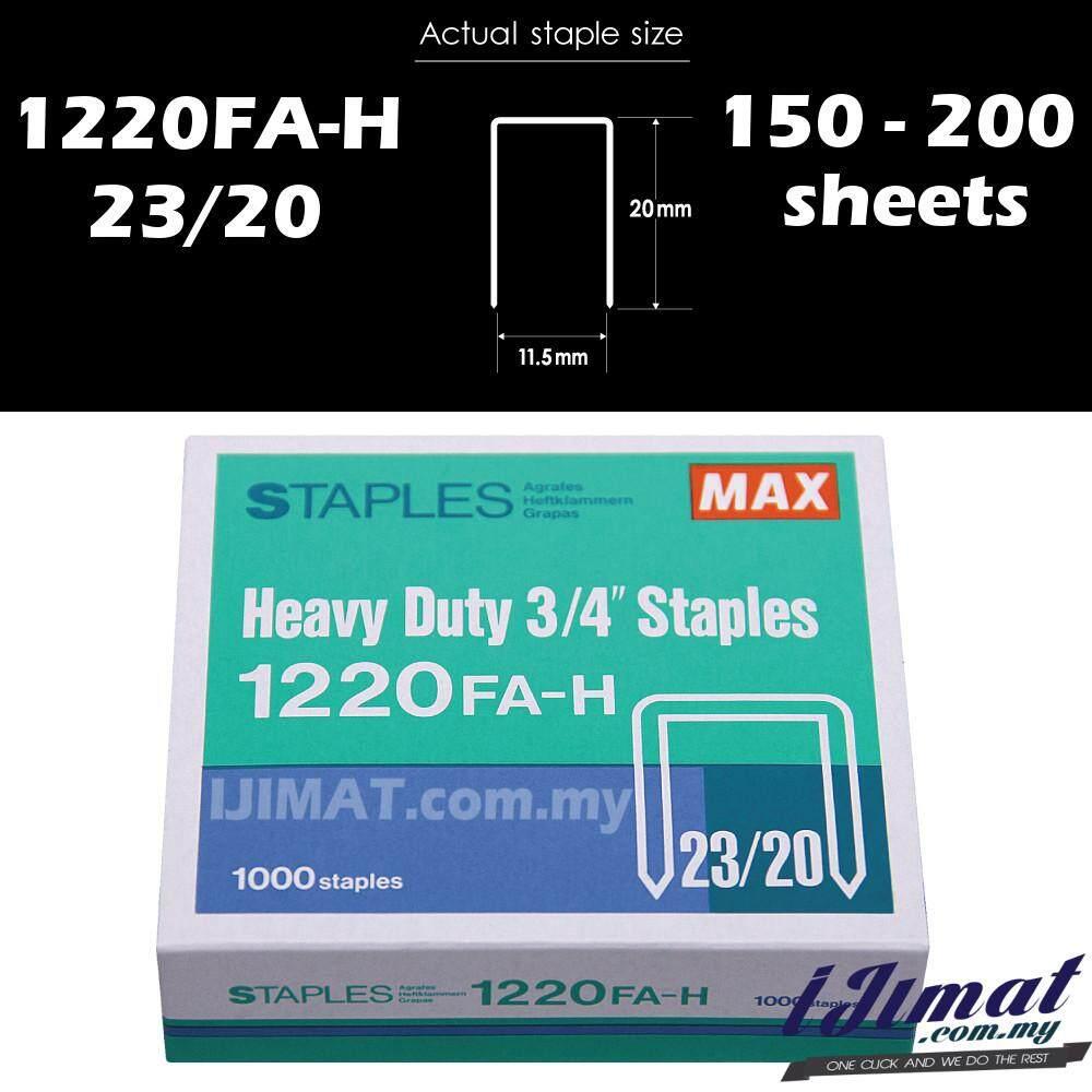 MAX Staples Bullet Stapler Bullet 3/4 1220FA-H MAX Heavy Duty Staples 23/20 For HD-12N/24 & Deli 0385 Heavy Duty Stapler