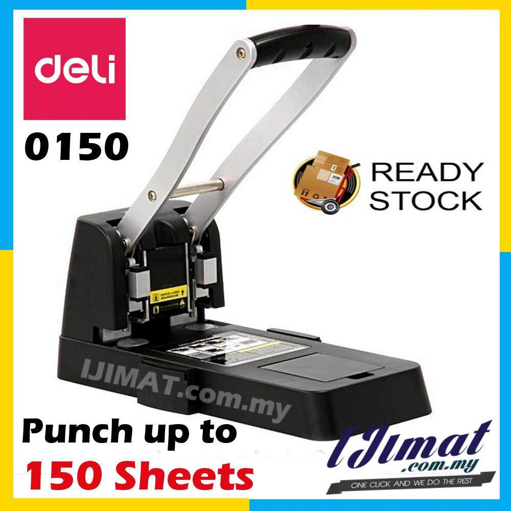 DELI 0150 Heavy Duty 2 Hole Paper Punch Puncher 150pages / 80g 6mm Hole