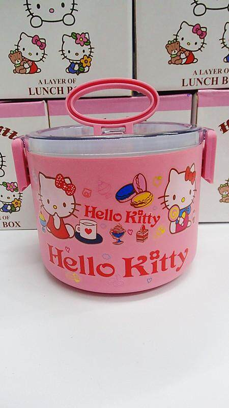 [Ready Stock] 1 Layer Stainless Steel Cartoon Lunch Box (BGJAYA)-Hello Kitty