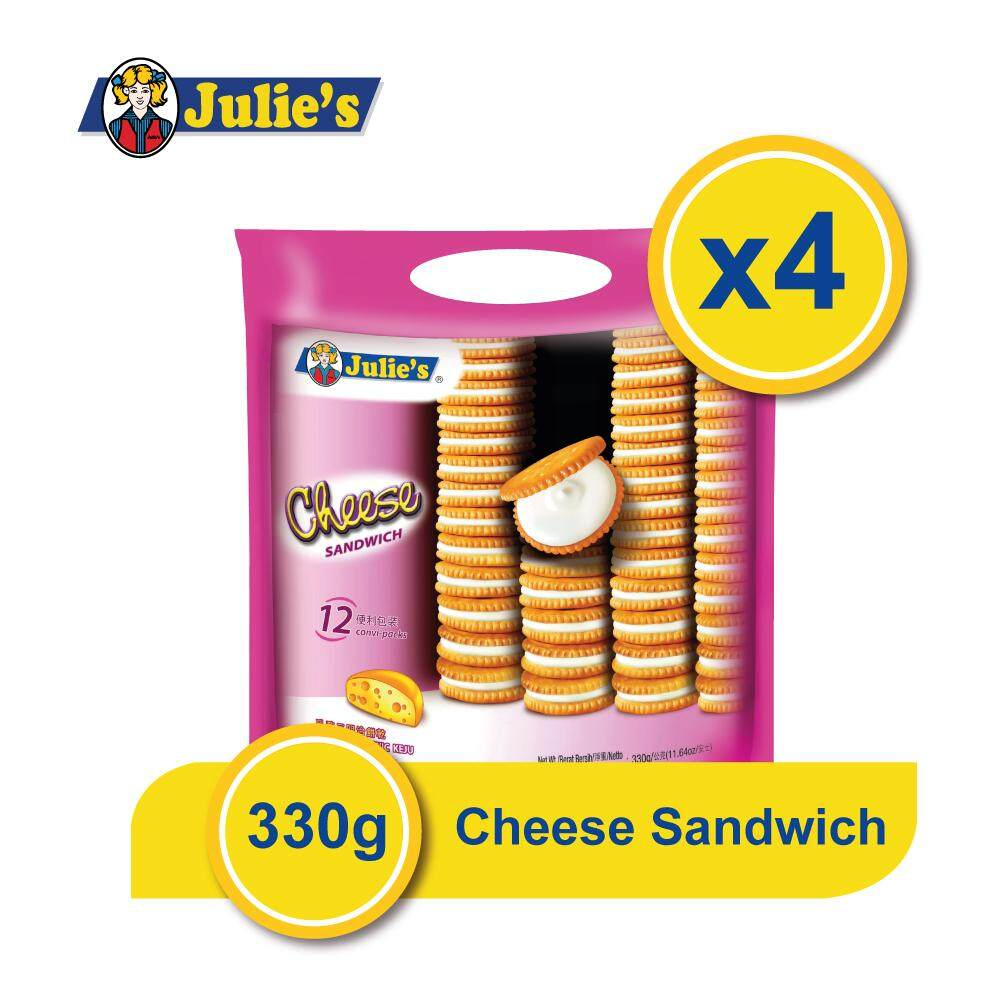 Julie's Cheese Sandwich 360g x 4 packs + Free 5 pack Convi pack Biscuit