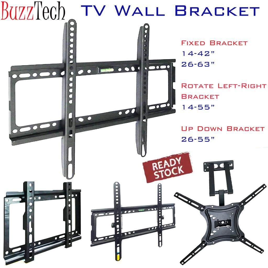 BUZZTECH TV Wall Mount Bracket LCDLED FLat TV Bracket Rotated TV Holder Wall Bracket Full set with screw