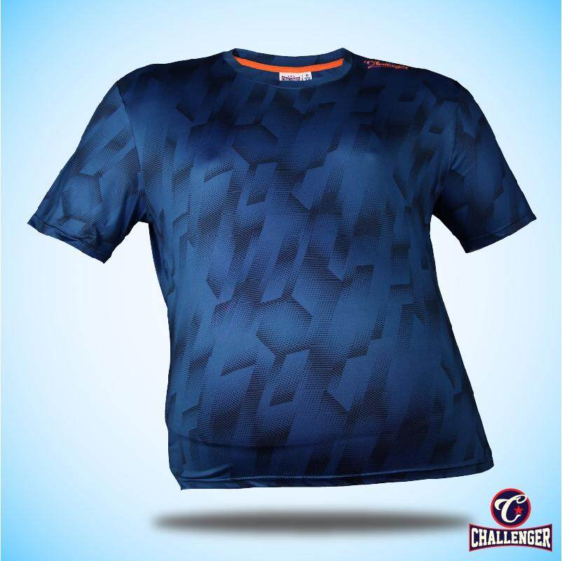 CHALLENGER BIG SIZE Ezdry RN SS Tee CH1024 (Royal Blue)