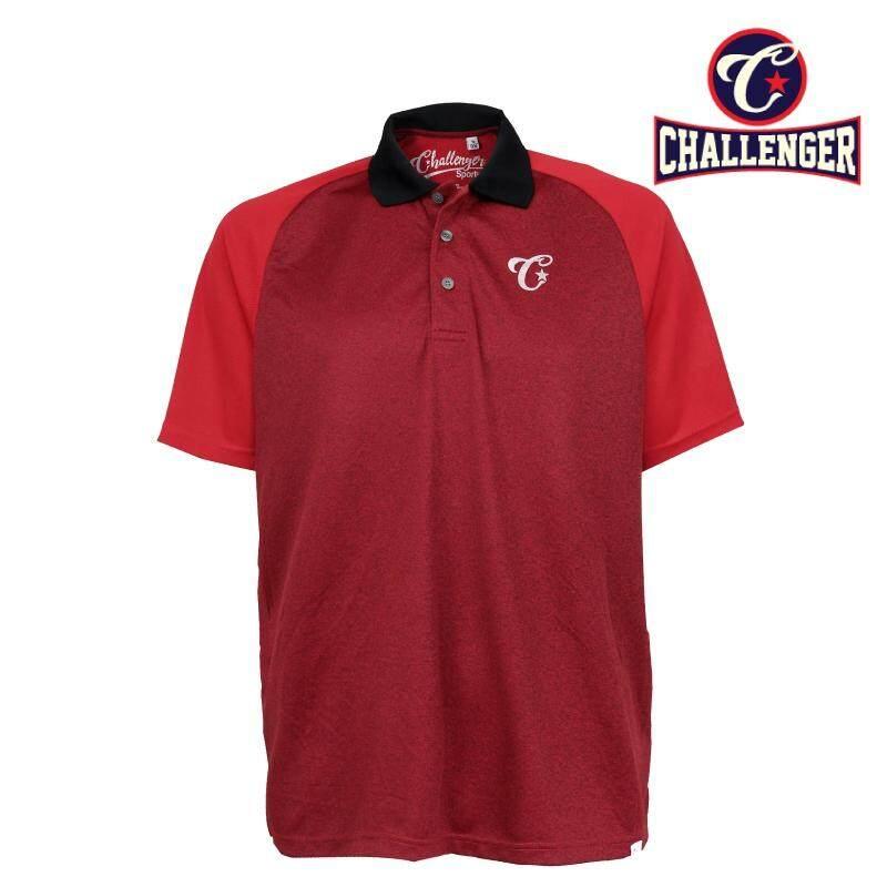 CHALLENGER BIG SIZE Cut & Sew Polo Raglan Tshirt CH2016 (Red)