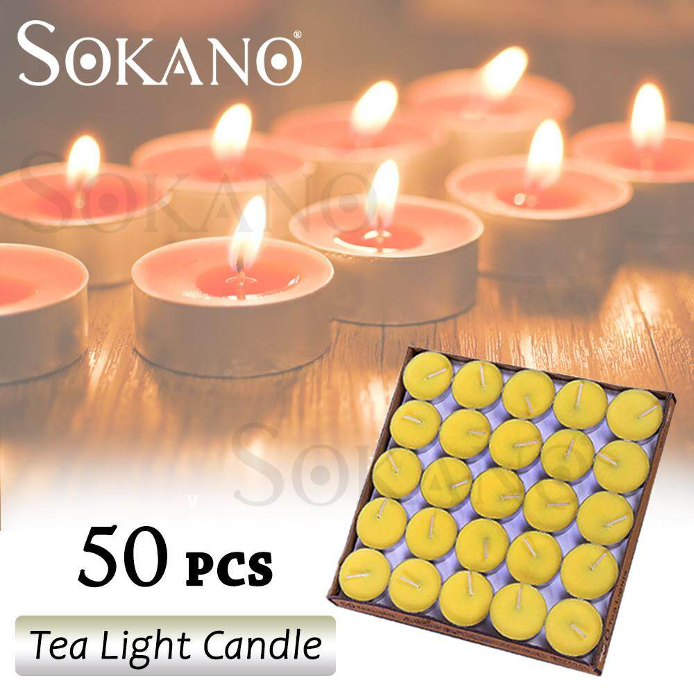 SOKANO Tea Light Candle 50 Pcs Set Home Deco DIY Deco