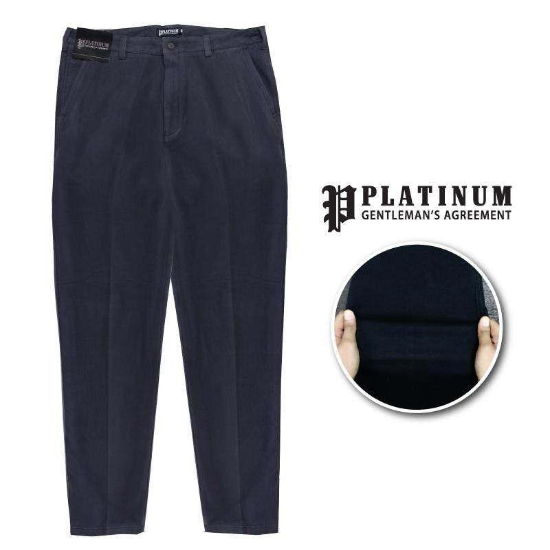 PLATINUM BIG SIZE Flat Front Chinos PM661 (Dk Grey)