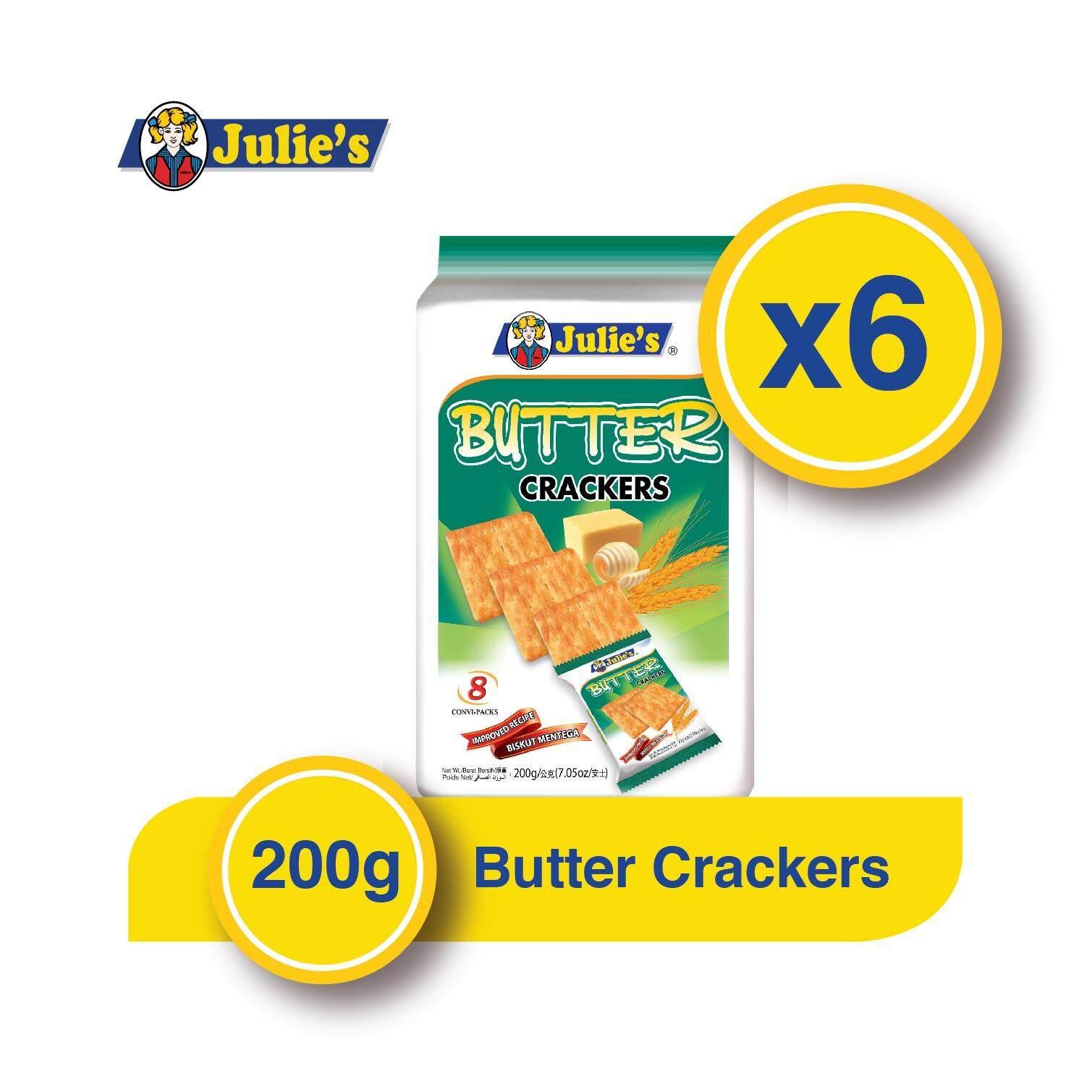 Julie's Butter Crackers 200g x 6 Packs + Free 5...