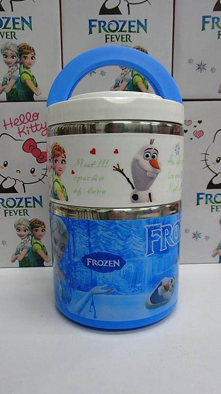 [Ready Stock] 2 Layer Stainless Steel Cartoon Lunch Box (BGJAYA)-Frozen