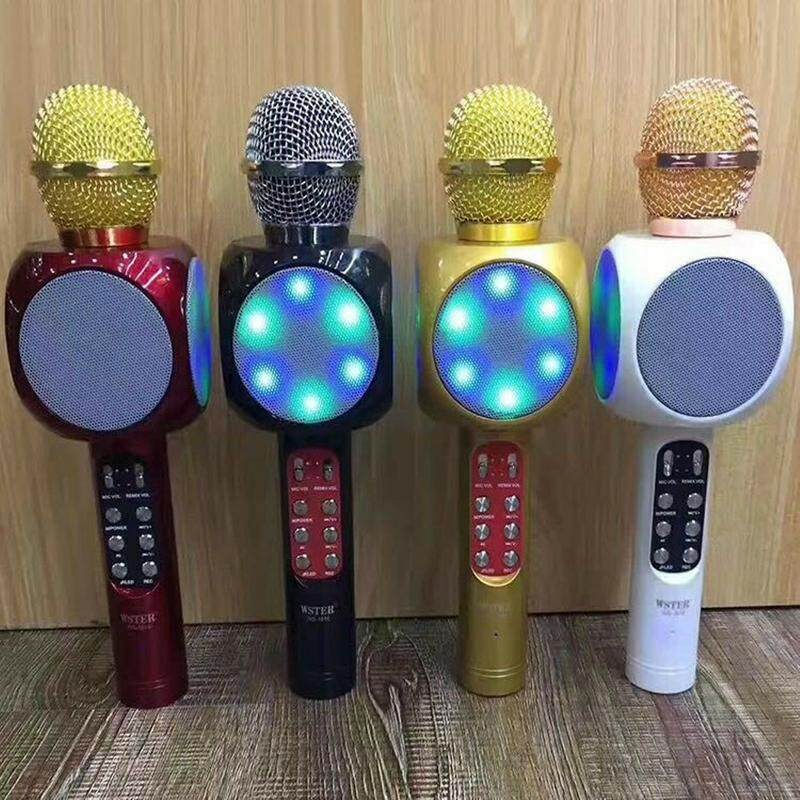 WS-1816 Mic Wireless Bluetooth Karaoke Smule LED RGB Microphone