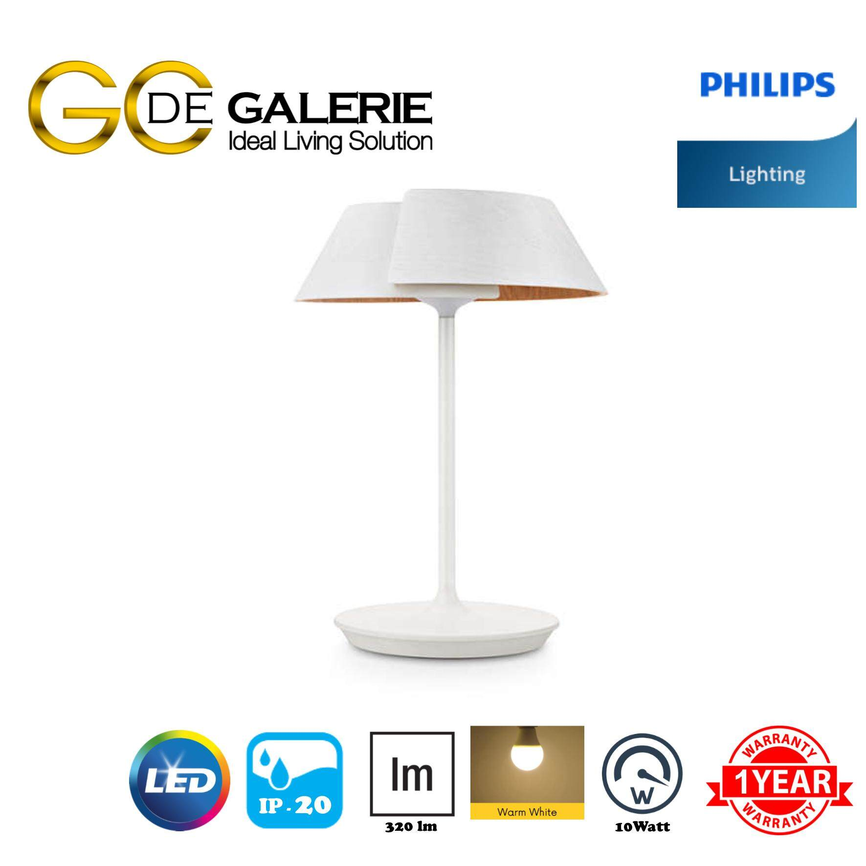 TABLE LAMP LED PHILIPS 49023 EMBRACE WH