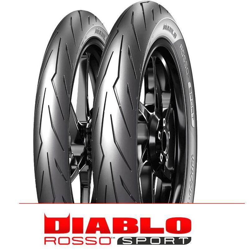 Original Pirelli Diablo Rosso Sport Tubeless Tyre 70/90-17