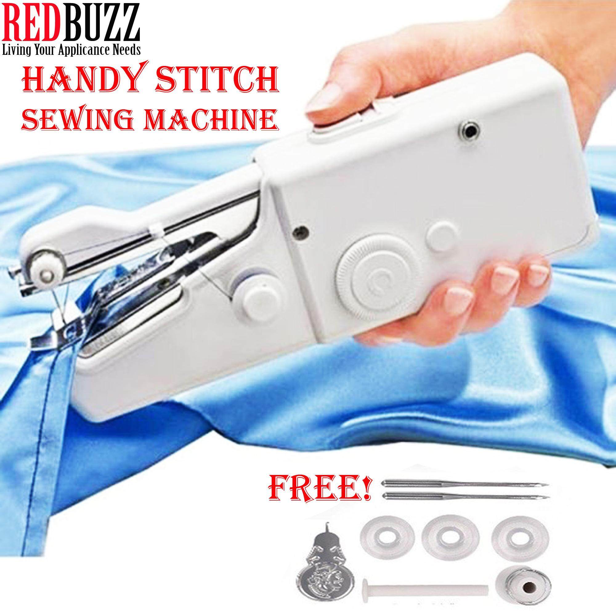 REDBUZZ Handy Stitch Mini Sewing Machine Portable Cordless Electric Handheld Sewing Machine