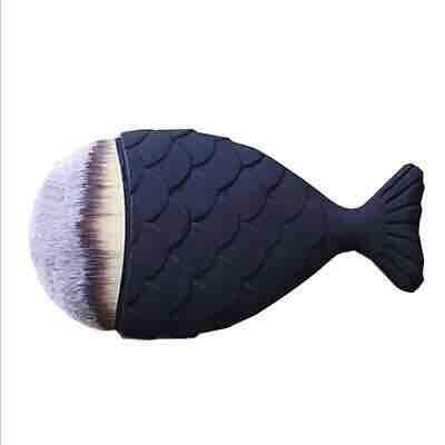 Professional Mermaid Shape Makeup Brush Foundation Cosmetic Fish Brush Makeup Tools 4 ColorsPowder Face Brush