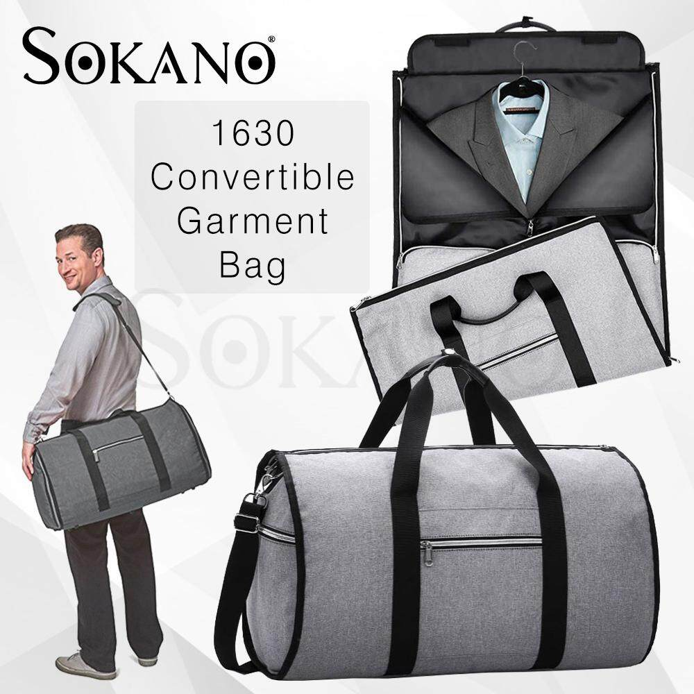 SOKANO 1630 Convertible Garment Bag with Shoulder Strap Carry on Duffel Bag for Men Women