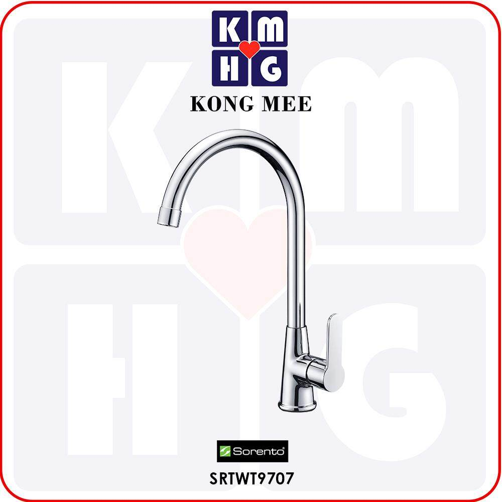 Sorento Italy - Hebe 9700 Series Pillar Mounted Kitchen Cold Tap (SRTWT9707) Cold Water Only Kitchen Top Counter Sink Basin Faucet Aesthetic Modern Luxury Restaurant Home Kitchen Wash Dishes Water Soap Faucet Cleaning Pipe Eating Food Cook