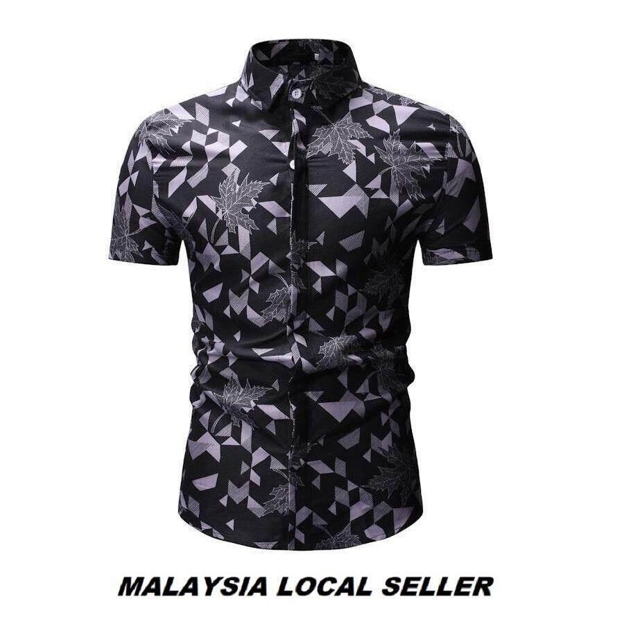 Kemeja Batik Lelaki Kemeja Bunga Shirt Batik Malaysia Readystock Code-49