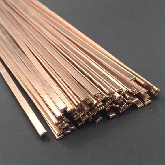 5Pcs Flat Phos-Copper Brazing Alloy Rod 0% 3.2 x 1.2mm
